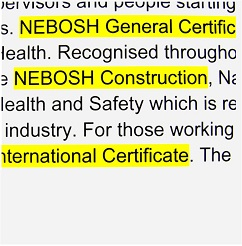 NEBOSH training - link to course dates